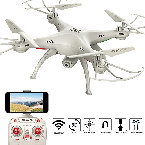 LIDI L15HW (SYMA X5SW Upgrade) 2,4 GHz 6-Achsen-Gyro Wifi FPV mit 0.3MP HD Kamera RC Quadcopter Drone Hoch Hold-Modus sehr einfach für Anfänger zu fliegen